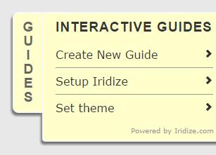 iridize start panel