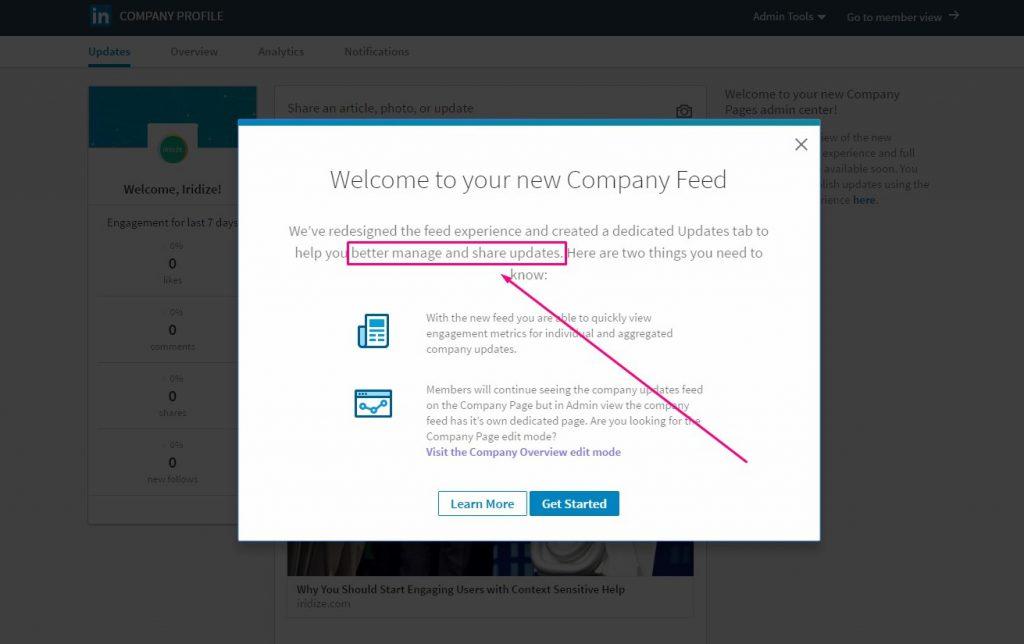 linkedin new UI rollout