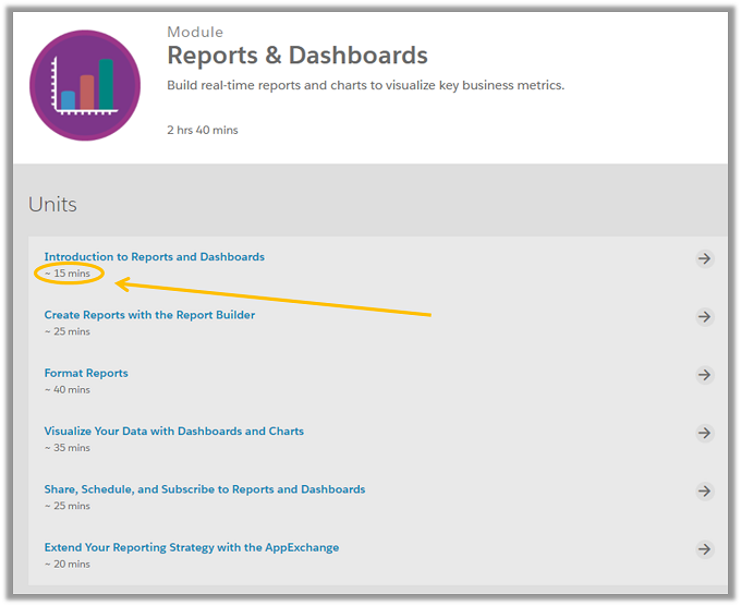 salesforce reports and dashboards menu