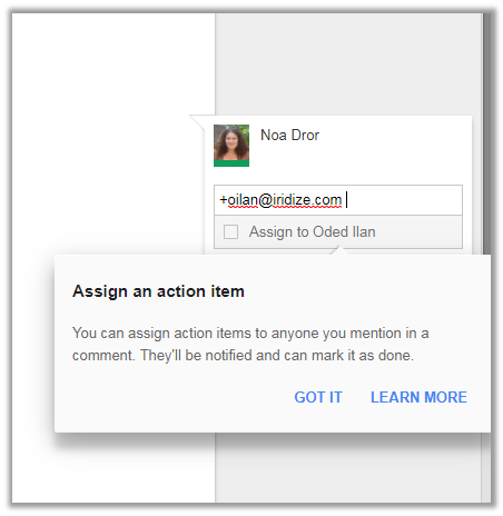 google docs microlearning example